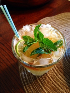 authentic Mai Tai with home-grown mint